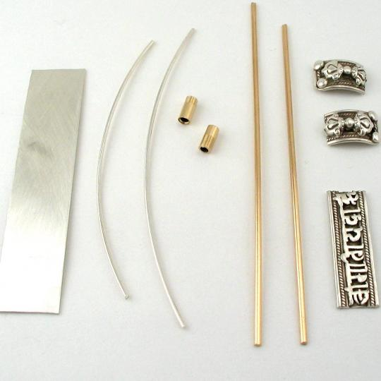all the pieces to make the ring