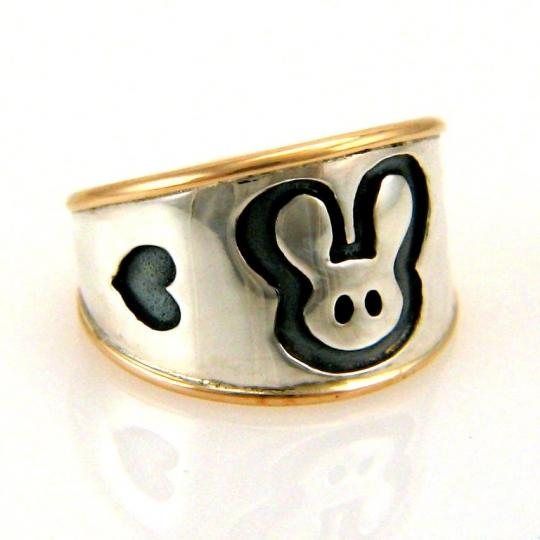 Custom Made Bunny Ring