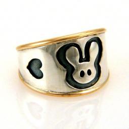 Custom Made Bunny Ring