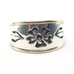 Pierced Flower Ring